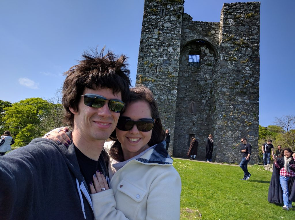 This castle was used as the basis for Walder Frey's 'The Twins.' They essentially mirrored this tower across a river and made it look more epic. Can you tell it was a windy day?