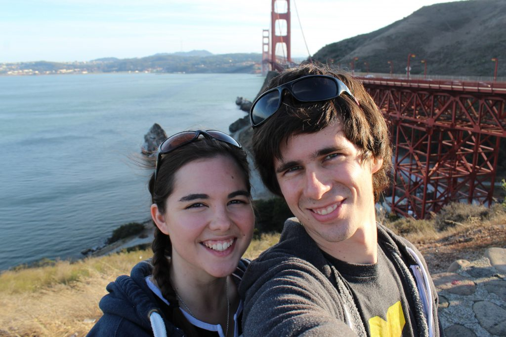 Aiden and I at Goldengate