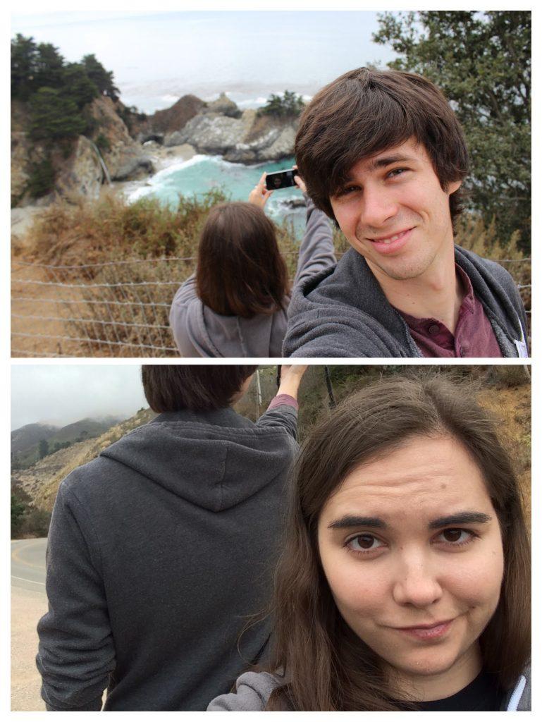 We definitely ended up taking selfies simultaneously. Oops.