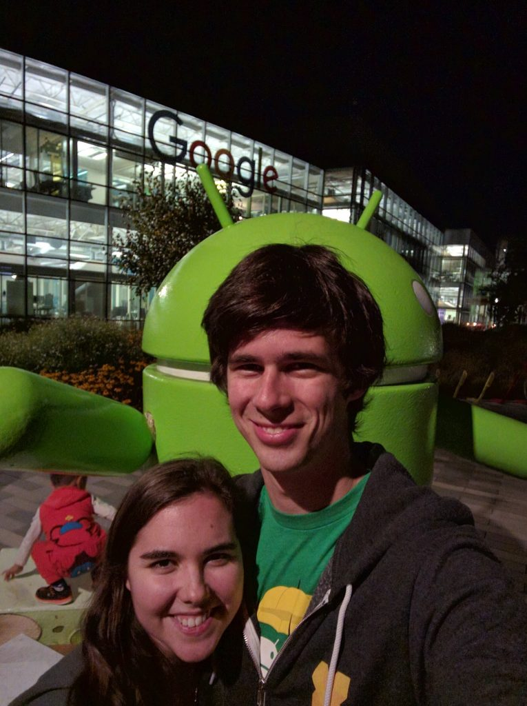 Had to get a picture with the Google sign, too.