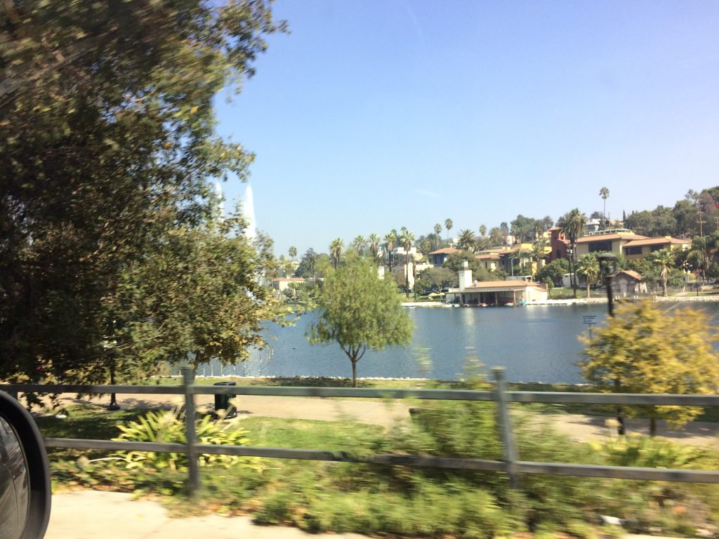 We drove by this park in the heart of LA. It reminded me of Central Park in NYC.